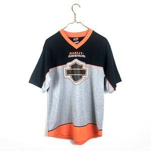 Harley Davidson • V-neck Shield Unisex T-shirt.